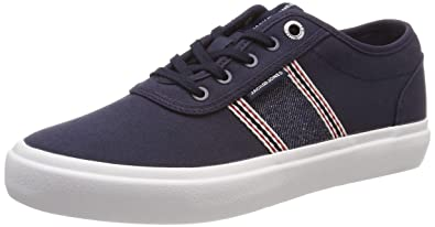 324fe9aed1bf64 JACK   JONES Herren JFWAUSTIN Denim Stripe Navy Blazer Sneaker Blau