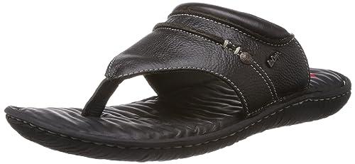 78738fde487 Lee Cooper Men s Black Leather Flip Flops Thong Sandals - 8 UK  Buy ...