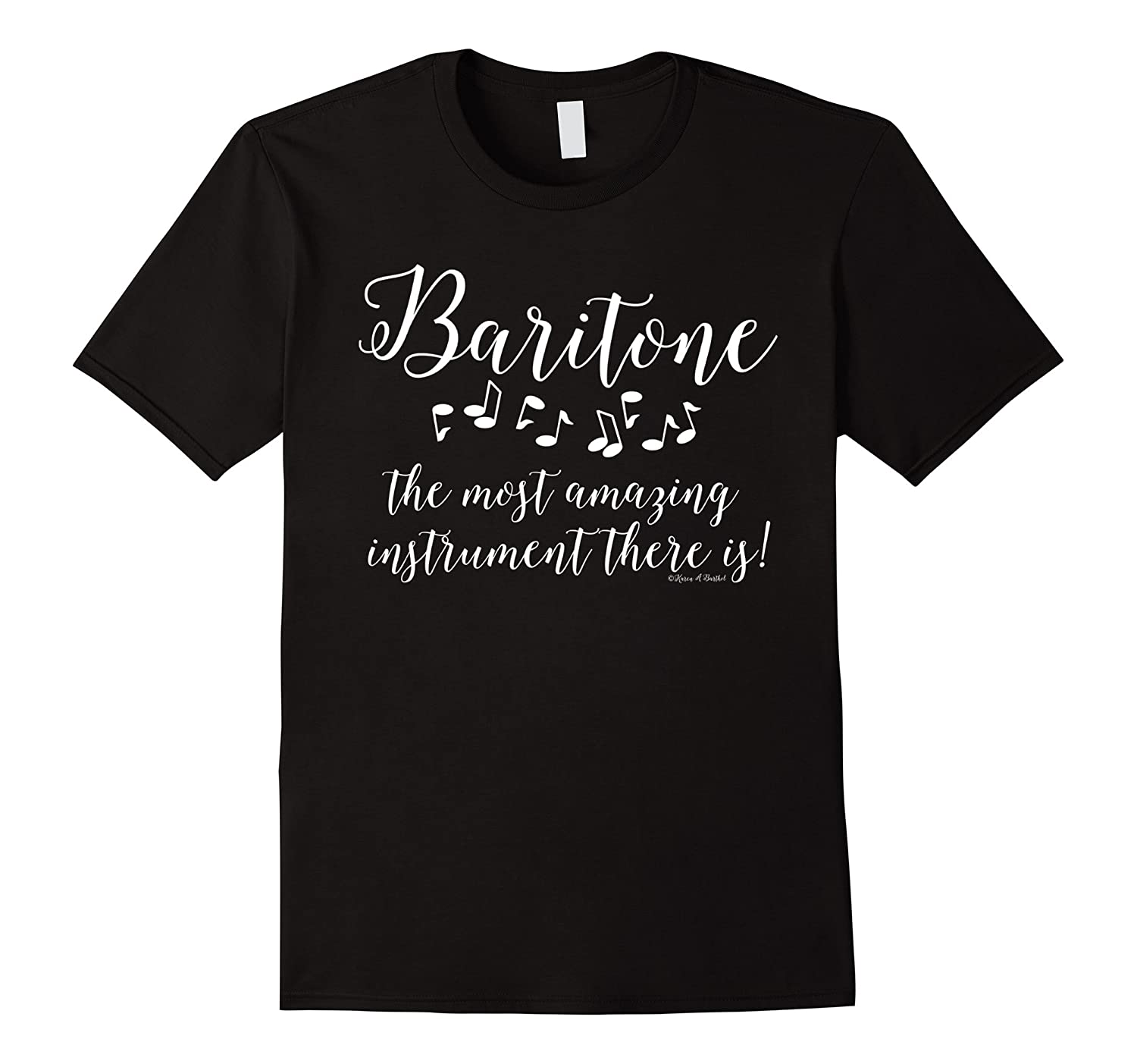 Amazing Baritone White Text Musical Instrument T Shirt-TH