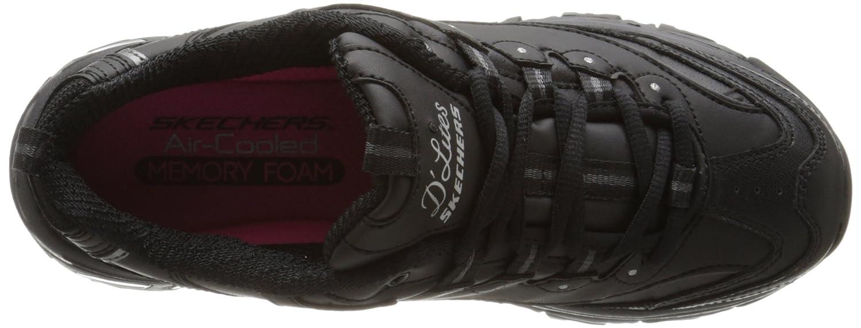 Skechers Damen Sneaker D´Lites BIGGEST FAN Schwarz (Schwarz/Silberfarben)