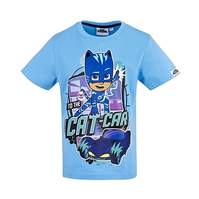PJ Masks Boys Go Go Go Short Sleeve T Shirt Sky 3 Years
