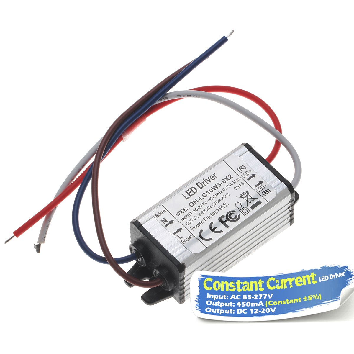 Chanzon Led Driver 450ma Constant Current Output 12v 20v Input 85 Drives Two 3 Watt Ledselectronics Project Circuts 277v Ac Dc 4 6x2w Ip67 Waterproof Power Supply 450 Ma Lighting Transformer Drivers