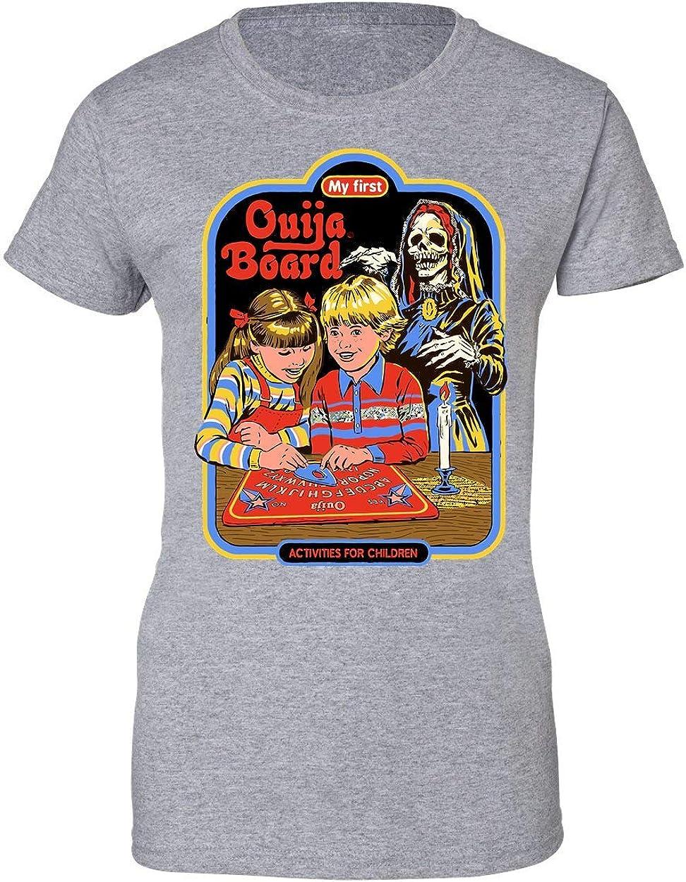 BakoIsland Ouija Board Retro Vintage Poster Design Camiseta de Mujer: Amazon.es: Ropa y accesorios