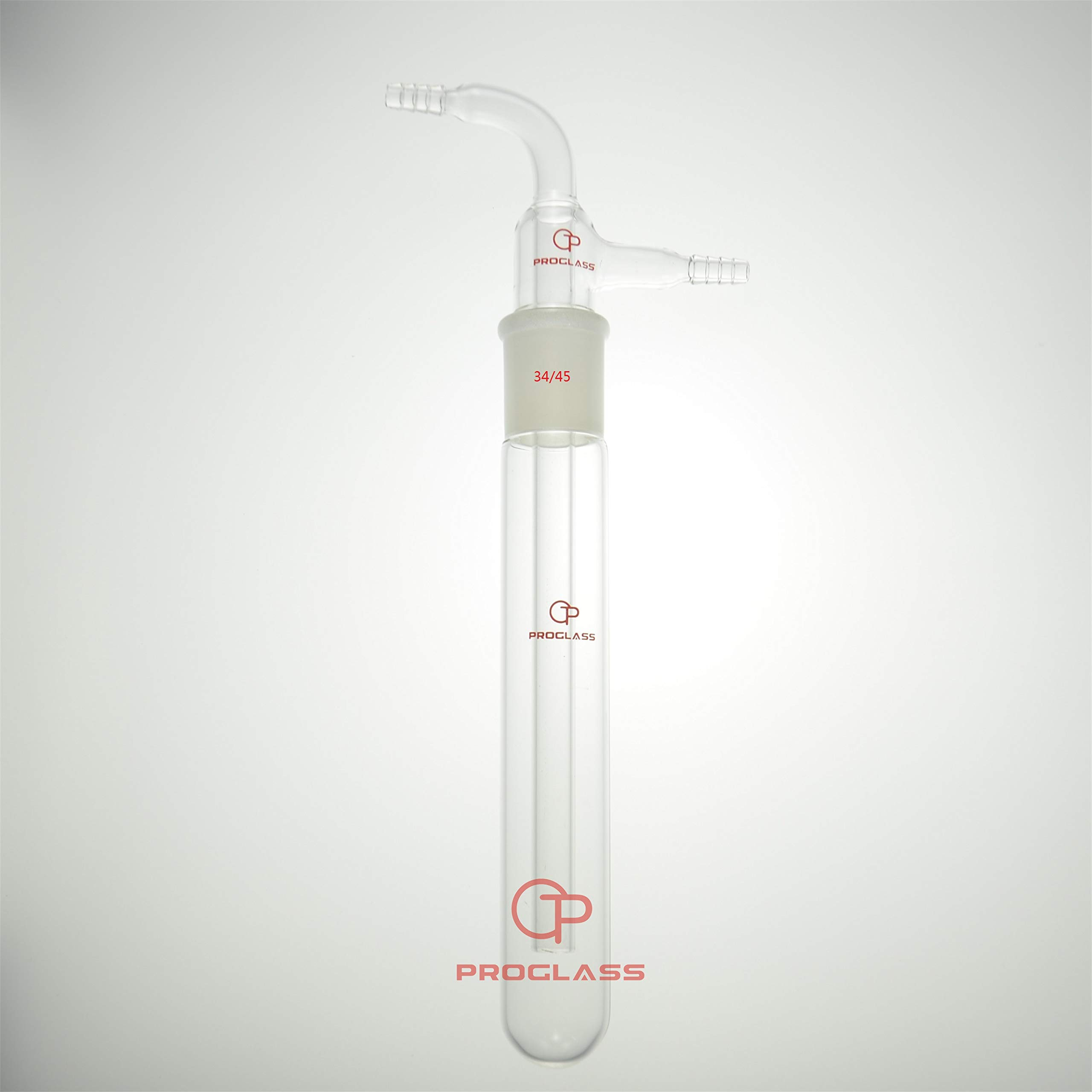 PROGLASS Glass Vacuum Trap with 10 mm Hose, 225 mm Length Below The 34/45 Joint by PROGLASS