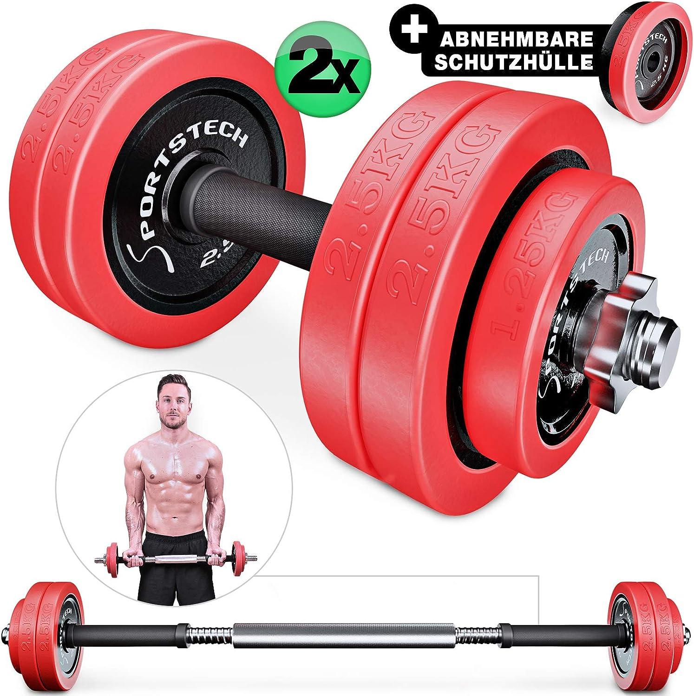 Sportstech Pesas Hierro Fundido de 20 kg / 30 kg