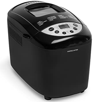 andrew james bread maker in black dual blade breadmaker machine