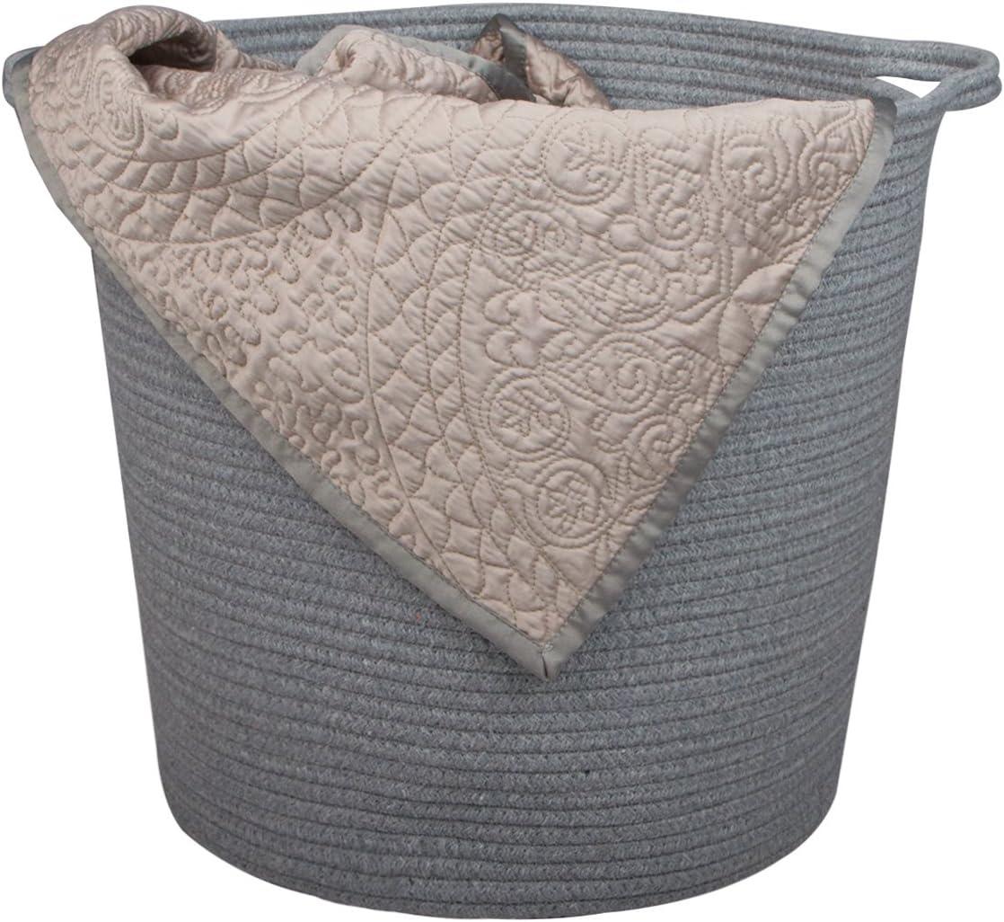 Aufbewahrungskorb aus nat/ürlichem Bauwollseil INDRESSME Baby-W/äschekorb extra gro/ß