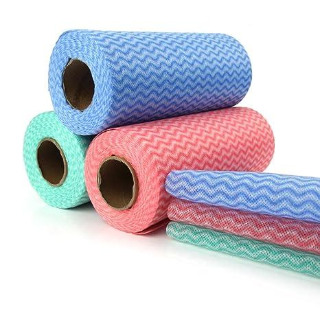 Desechables toalla de limpieza (2 rollos de 100) multiusos Non Woven Fabric OTp tejidos