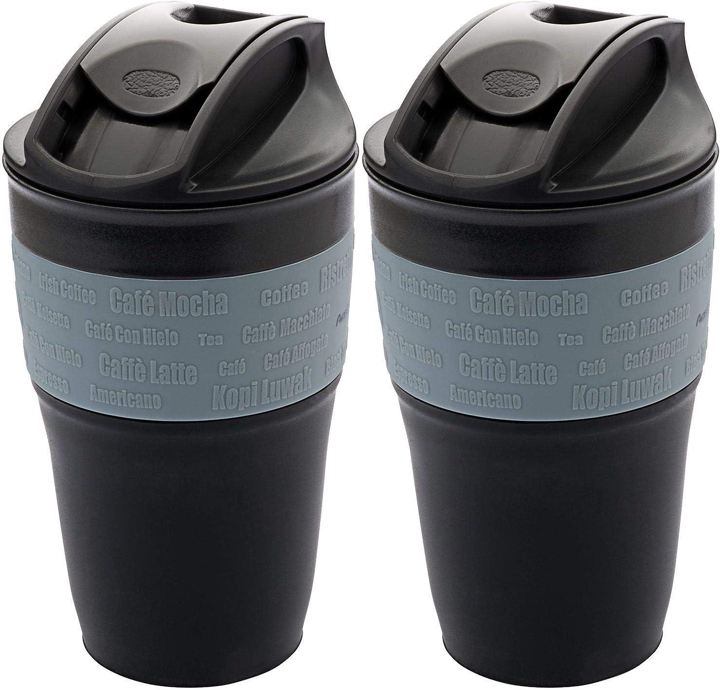355 ml 1539 AceCamp de Doblar la Taza de caf/é a go Tazas Reutilizables Compresible herm/ético con Tapa