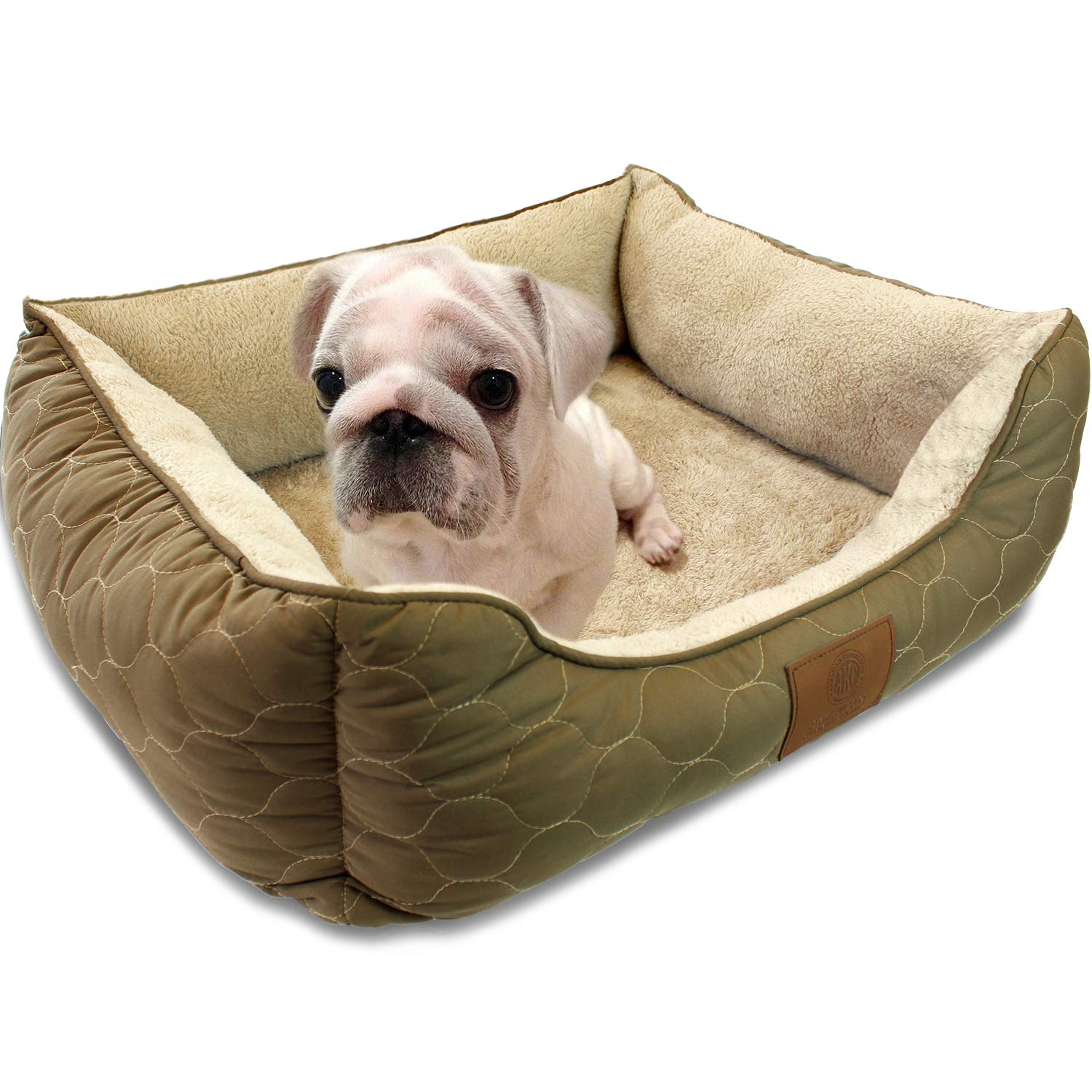 Amazon.com: Cama American Kennel Club para mascota, redonda ...