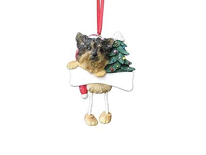 Amazon Com Yorkshire Terrier Puppycut Dangling Wobbly Leg Christmas