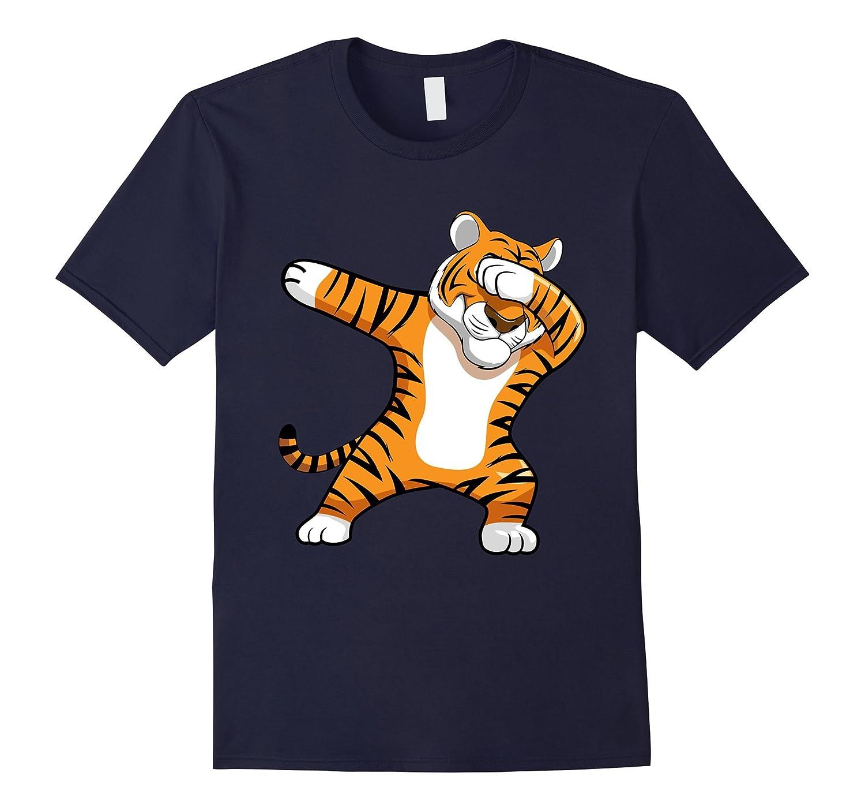 Dabbing Tiger Football Team Mascot Funny Dab T-shirt Cat-FL