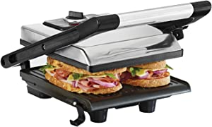 BELLA (13267) Electric Panini Press Sandwich Maker, Silver