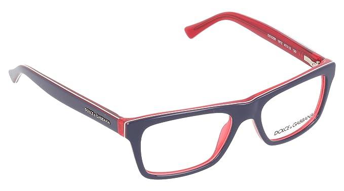 9e1d2b78e94e Dolce Gabbana URBAN DG3205 Eyeglass Frames 1872-47 - Top Blue On Red  DG3205-1872