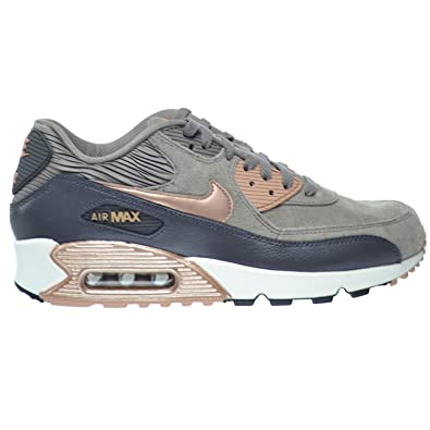 d2e6ec805396 Nike Air Max 90 Leather Women  Shoes Iron Metallic Red Bronze-Dark Strom