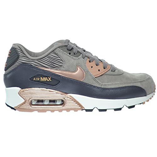 new products 4c0b0 a9b2e Nike Air Max 90 Leather Women  Shoes Iron Metallic Red Bronze-Dark Strom
