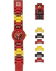 LEGO Ninjago 8021414 Kai Kids Buildable Watch with Minifigure Link | red/black | plastic | 25mm case diameter| analogue quartz | boy girl | official
