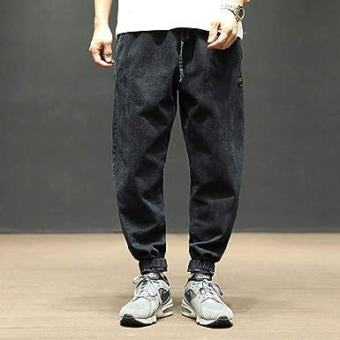 3a5e202b Frozac Fashion 5XL Do Old Wash Jeans Blue Black Denim Mens Joggers ...