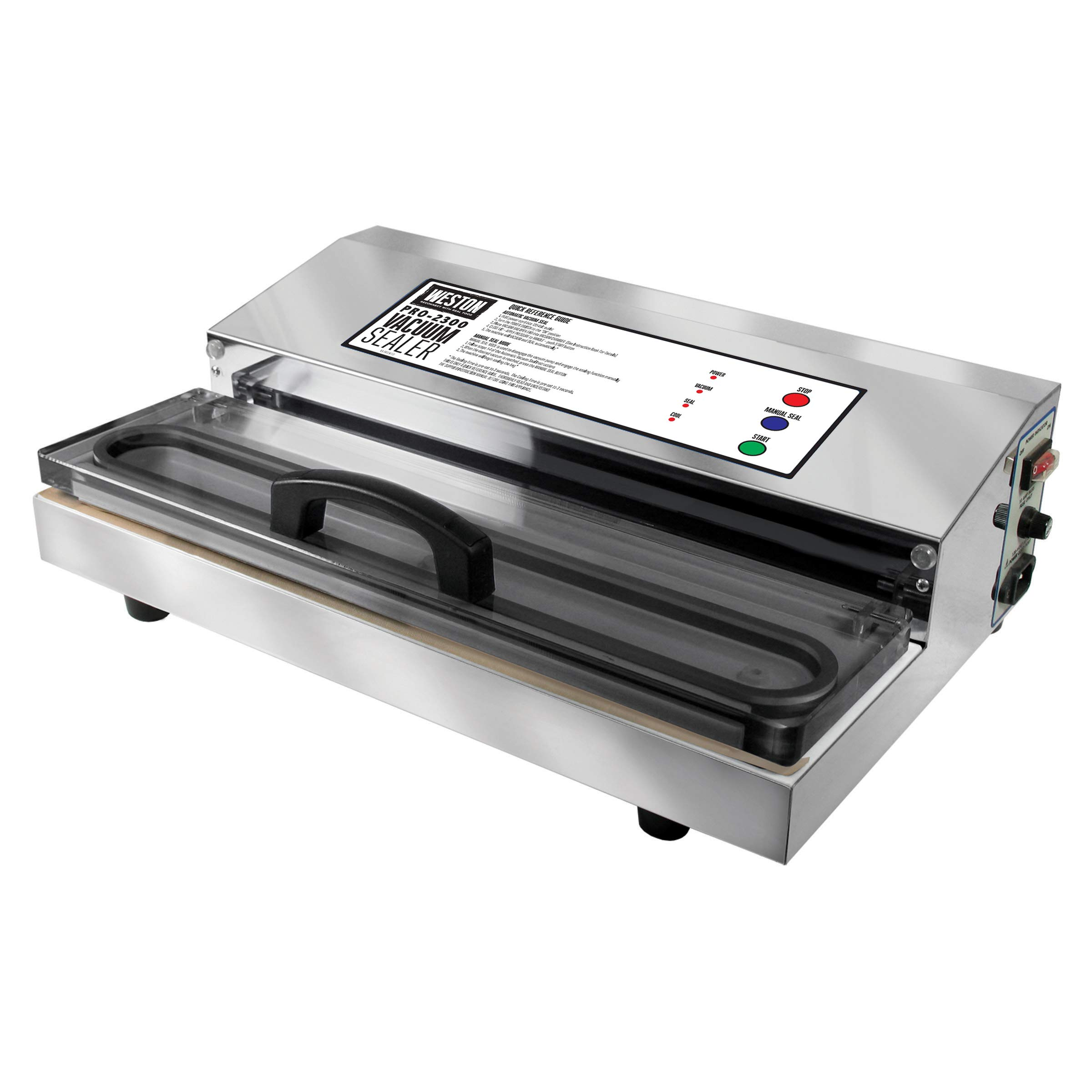 Weston Pro-2300 Commercial Grade Stainless Steel Vacuum Sealer (65-0201), Double Piston Pump by Weston