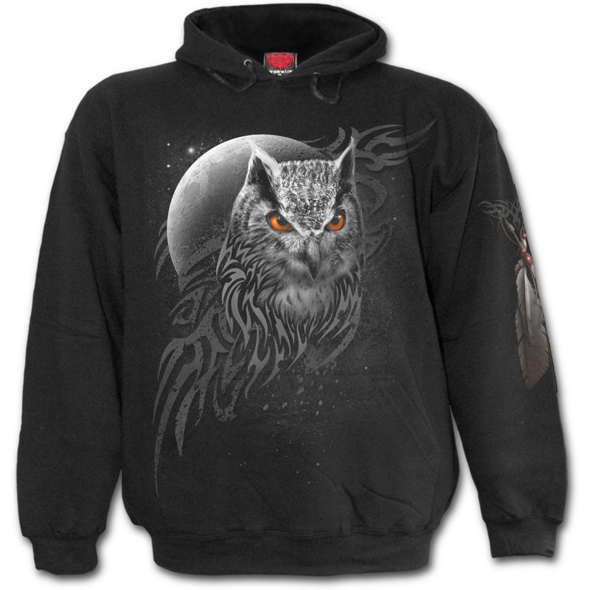 Spiral Wings of Wisdom - Hoody Black Spiral Direct Ltd E022M451