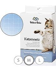 Bella & Balu Katzennetz inkl. Haken, Dübel, Rundumseil und Anleitung – Transparentes Schutznetz für Katzen zur Absicherung von Balkon, Terrasse, Fenster und Türen (transparent | 8 x 3 m)