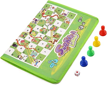 Juego Entre Padres e Hijos Alfombra no Tejida Serpiente de ajedrez y escaleras disfrutan de la diversión Familiar Barukra: Amazon.es: Juguetes y juegos