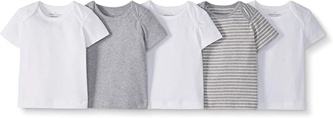 Moon and Back de Hanna Andersson - Pack de 5 camisetas de cuello ...