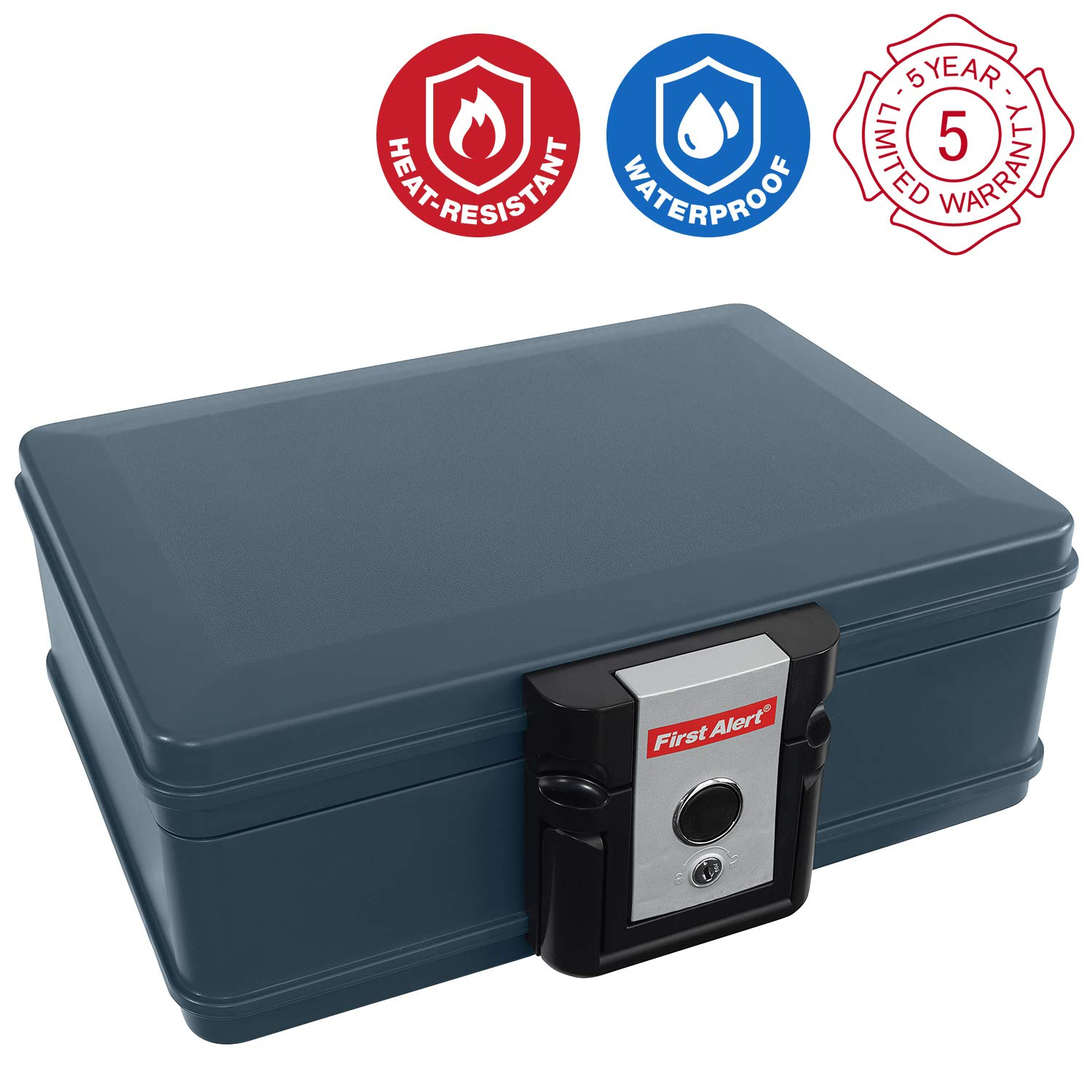 First Alert 2017F Water and Fire Protector File Chest, 0.19 Cubic Feet by First Alert