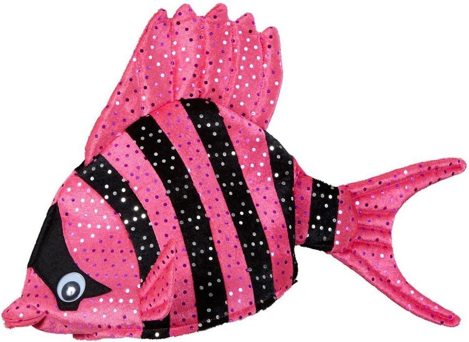 NET TOYS Lustige Fischm/ütze Tropen Fischhut pink Fisch Hut M/ütze Tierhut Tierm/ütze Fisch Hut M/ütze Faschingshut Nemo
