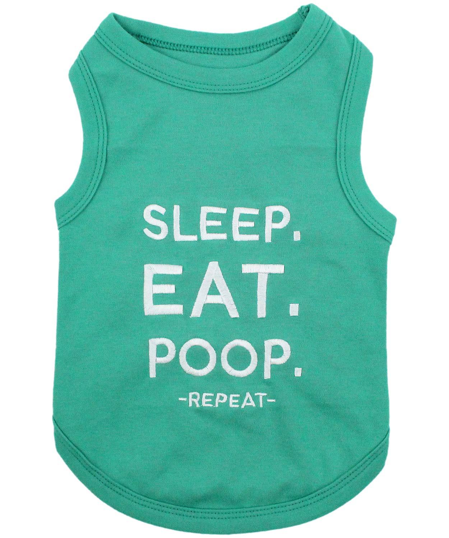 Parisian Pet Dog Clothes SLEEP EAT POOP T-Shirt