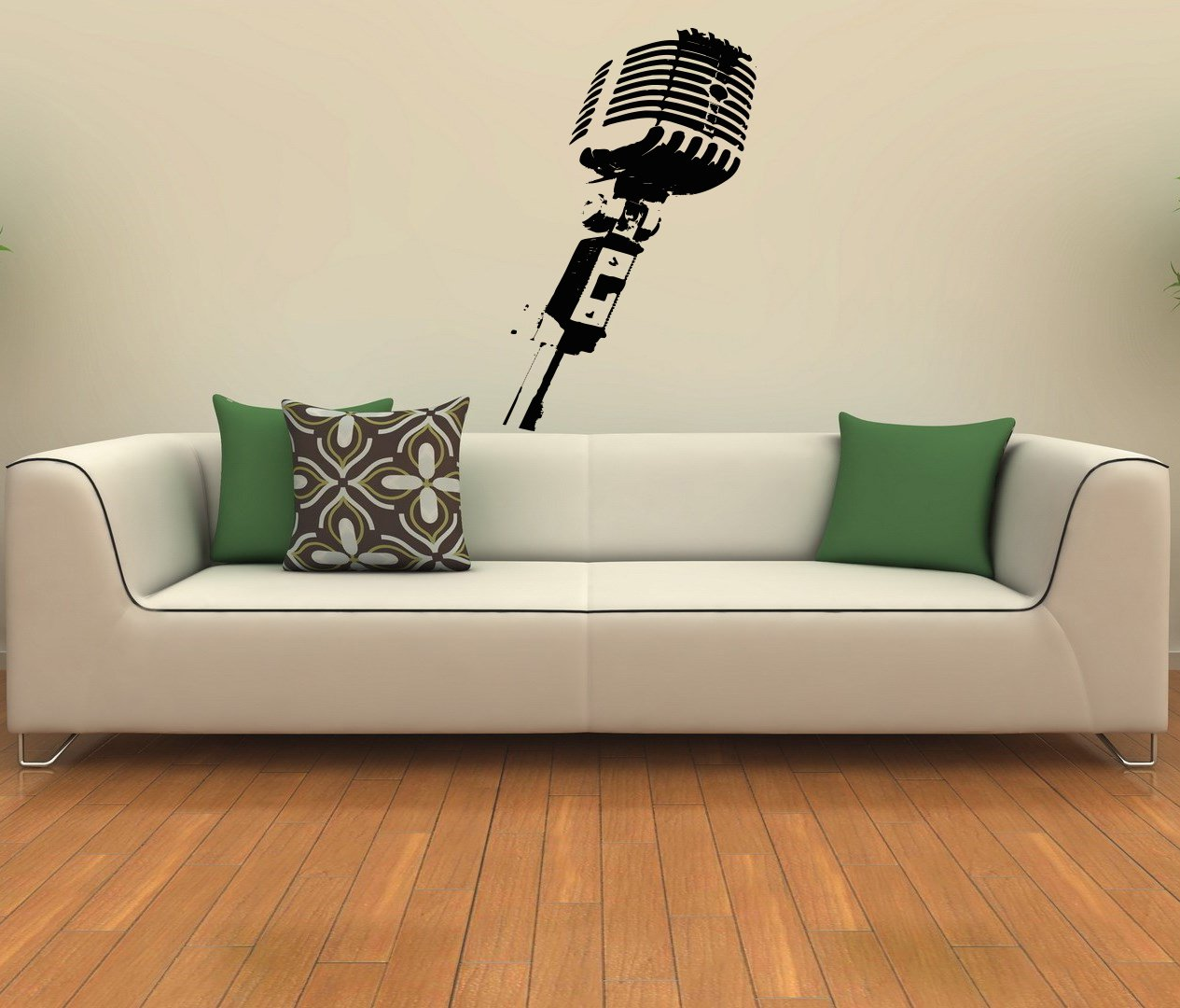 Studio Microphone Musical Decor Recording Music Studio Wall Vinyl Decal Art  Sticker Home Modern Stylish Interior Decor For Any Room Smooth And Flat  Surfaces ...
