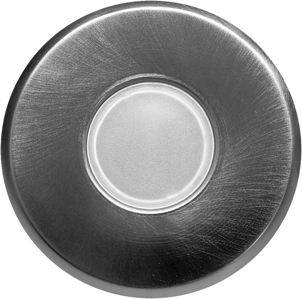 Nickel NICOR Lighting DLF-10-TRIM-RD-NK DLF Sure Fit Series Round Trim Plate