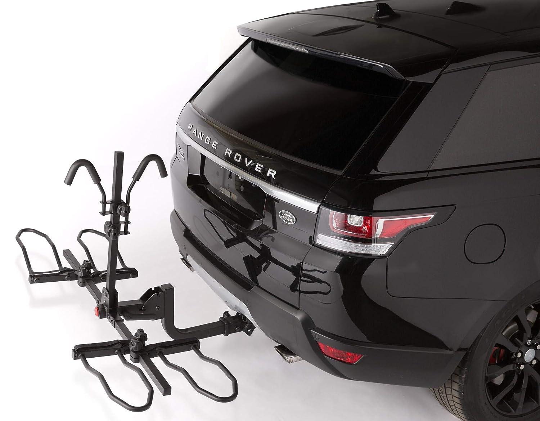 Overdrive Sport 2-Bike Hitch Mounted Rack – Smart Tilting, Platform Style Standard, Fat Tire Electric Bikes