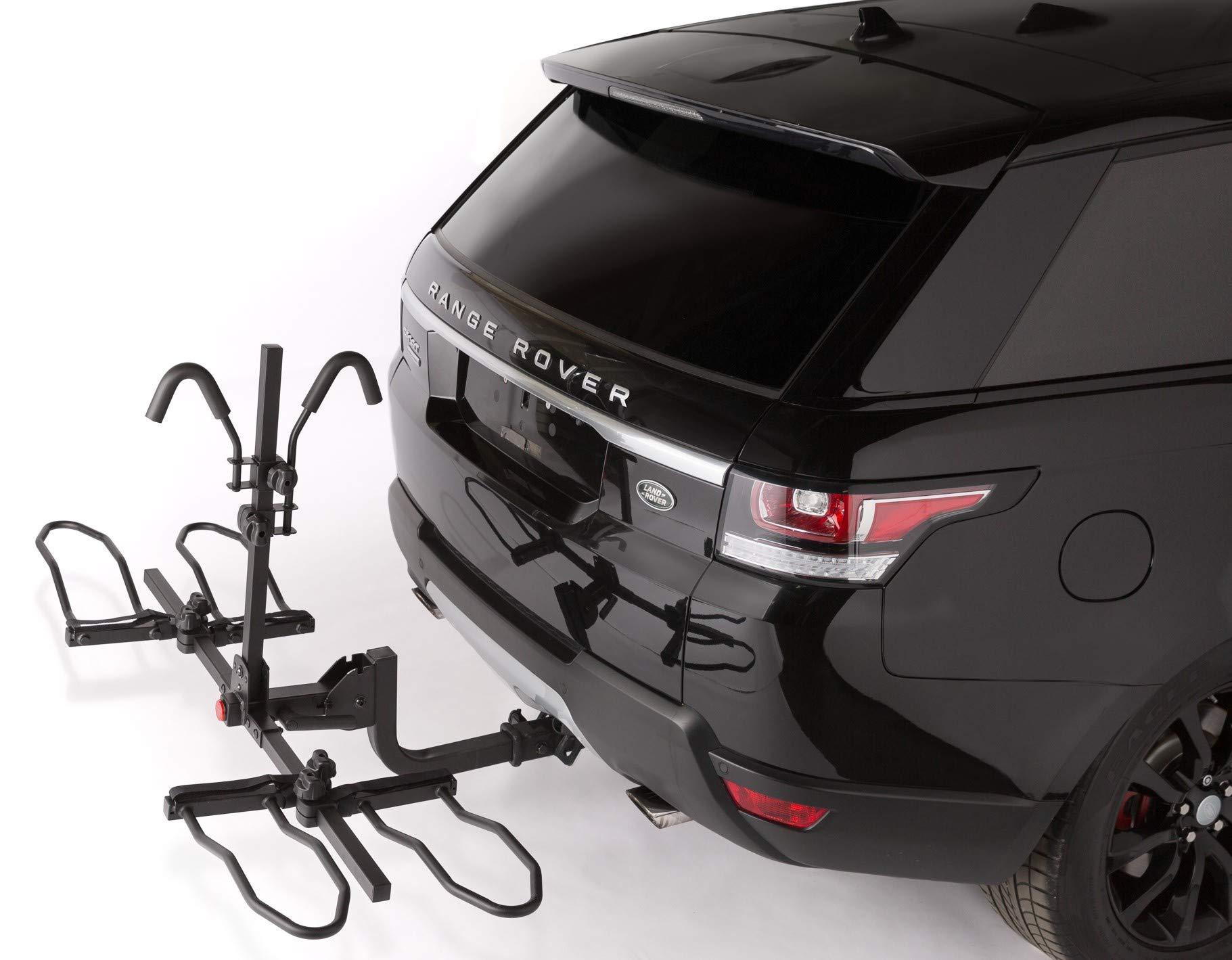 Overdrive Sport 2-Bike Hitch Mounted Rack - Smart Tilting, Platform Style Standard, Fat Tire Electric Bikes