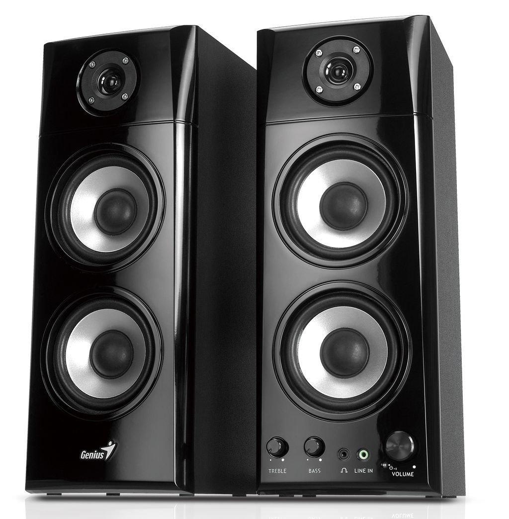 Genius SP-HF1800A 50 W Three-way Hi-Fi Wood Speakers by Genius