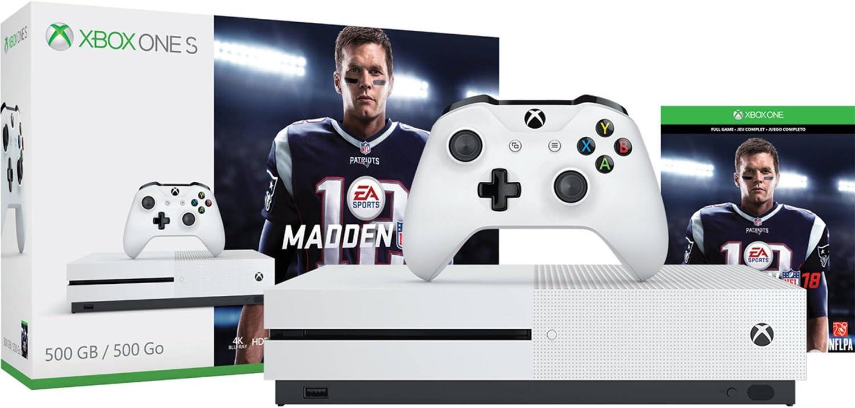 Amazon com: Xbox One S 500GB Console - Madden NFL 18 Bundle