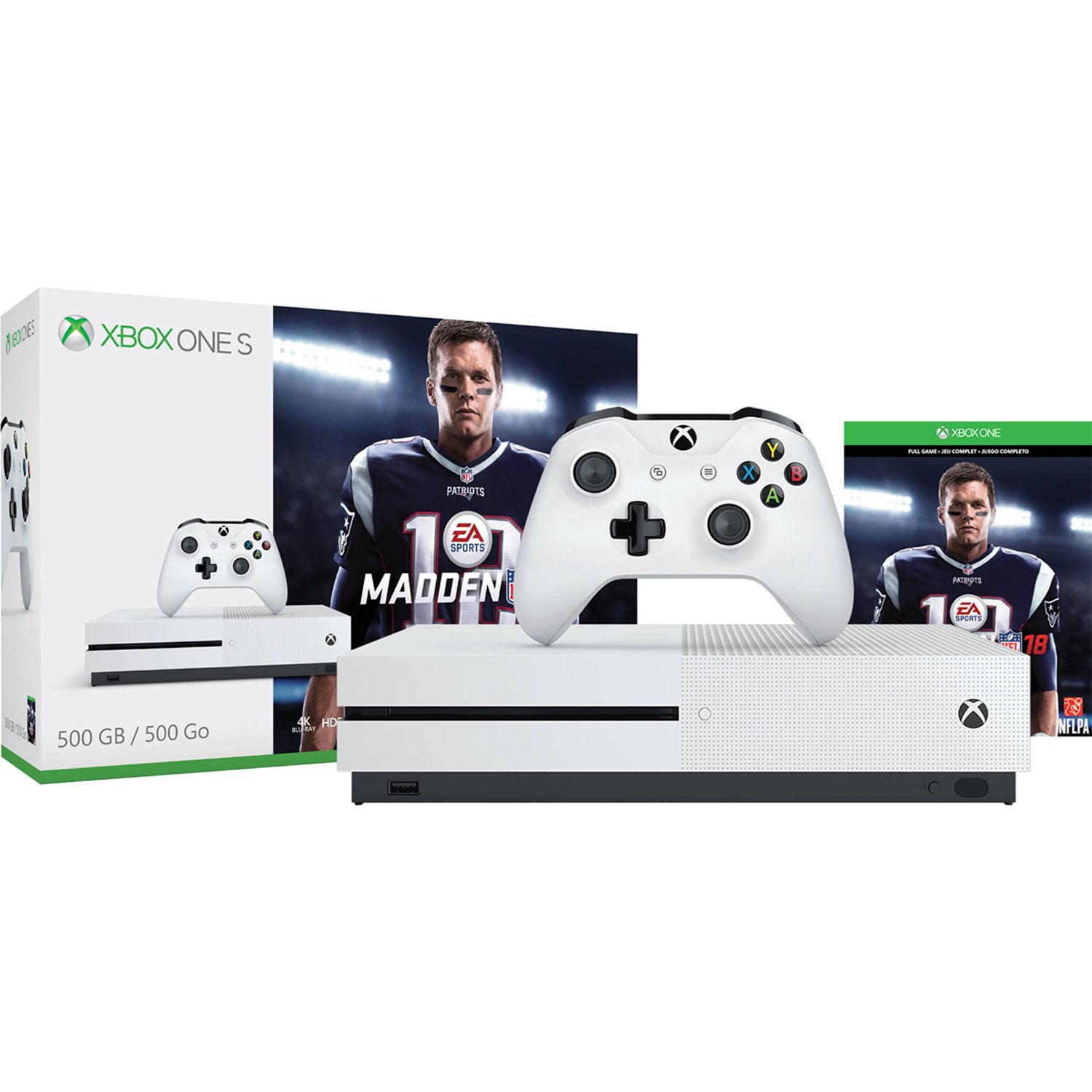 Xbox One S 500GB Console - Madden NFL 18 Bundle [Discontinued] by Microsoft