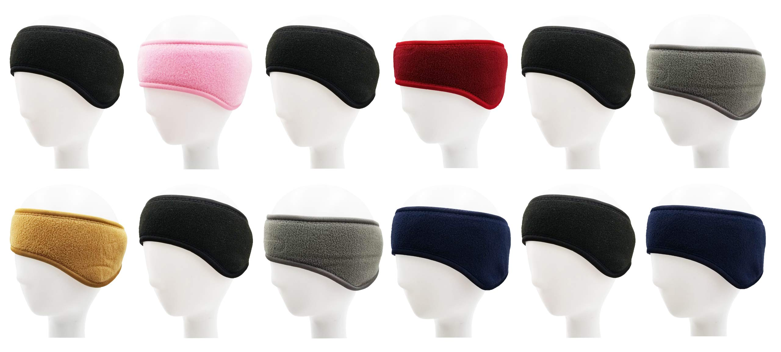 Winter Earmuffs, 12 Pack, Cozy Ear Warmers Colors Mens Womens Unisex Bulk Assorted Ear Muff (12 Pack - Assorted Ear Wrap)