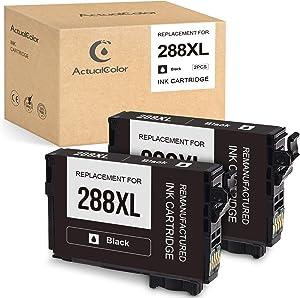 ActualColor C Remanufactured Ink Cartridge Replacement for Epson 288XL 288 XL T288XL Ink Cartridges for Expression Home XP-440 XP-430 XP-340 XP-330 XP-446 XP-434 Printer (Black,2-Pack)