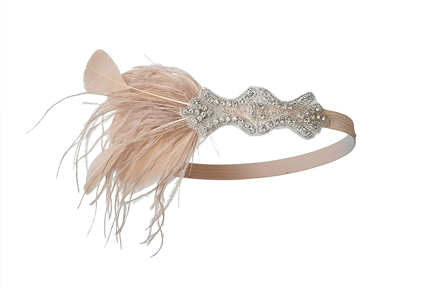 1920s Headband, Headpiece & Hair Accessory Styles 1920s Headpiece Roaring 20s Great Gatsby Headband Flapper Accessories for Women $10.99 AT vintagedancer.com