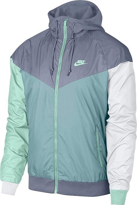 5a2974feef Nike Men s Windrunner Full Zip Jacket (Ashen Slate Ocean Bliss Small)