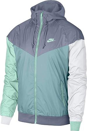 NIKE Men's Windrunner Full Zip Jacket (L, Ashen SlateOcean Bliss)