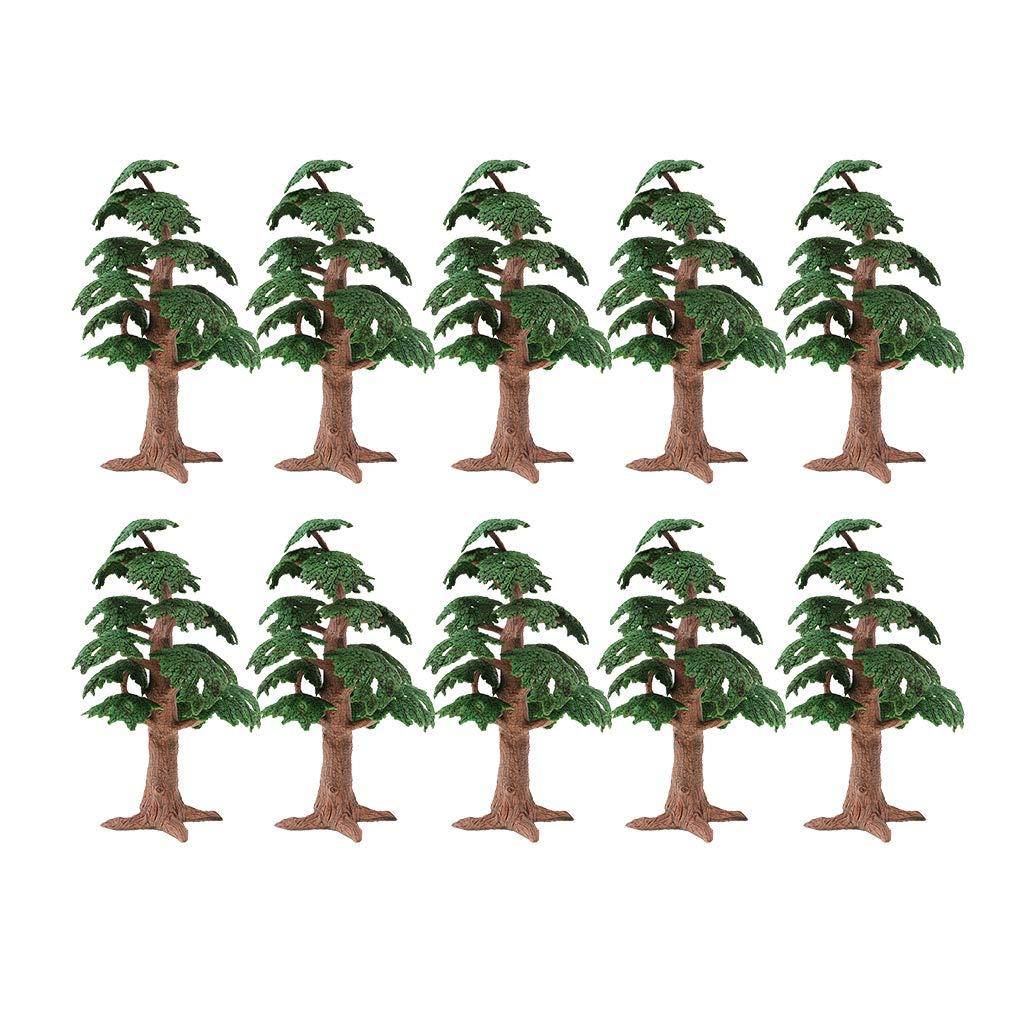 B Blesiya 10pcs Tree Model Landscape DIY for Diorama Architecture Layout 1:100