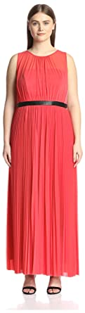 36cda07d5cd A.B.S. by Allen Schwartz Plus Women s Plus-Size Sheer Gown with Pleated  Skirt