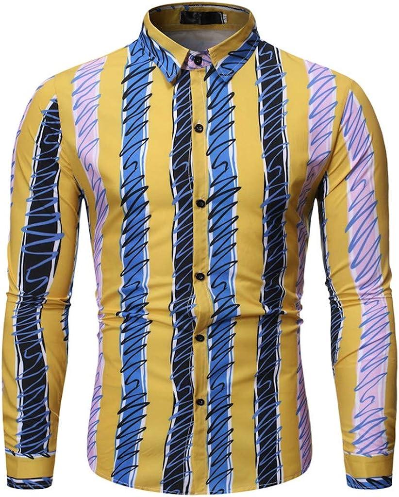 SUCES Camiseta de Manga Larga para Hombre, diseño a Rayas, Moderna, Ajustada, para otoño: Amazon.es: Ropa y accesorios