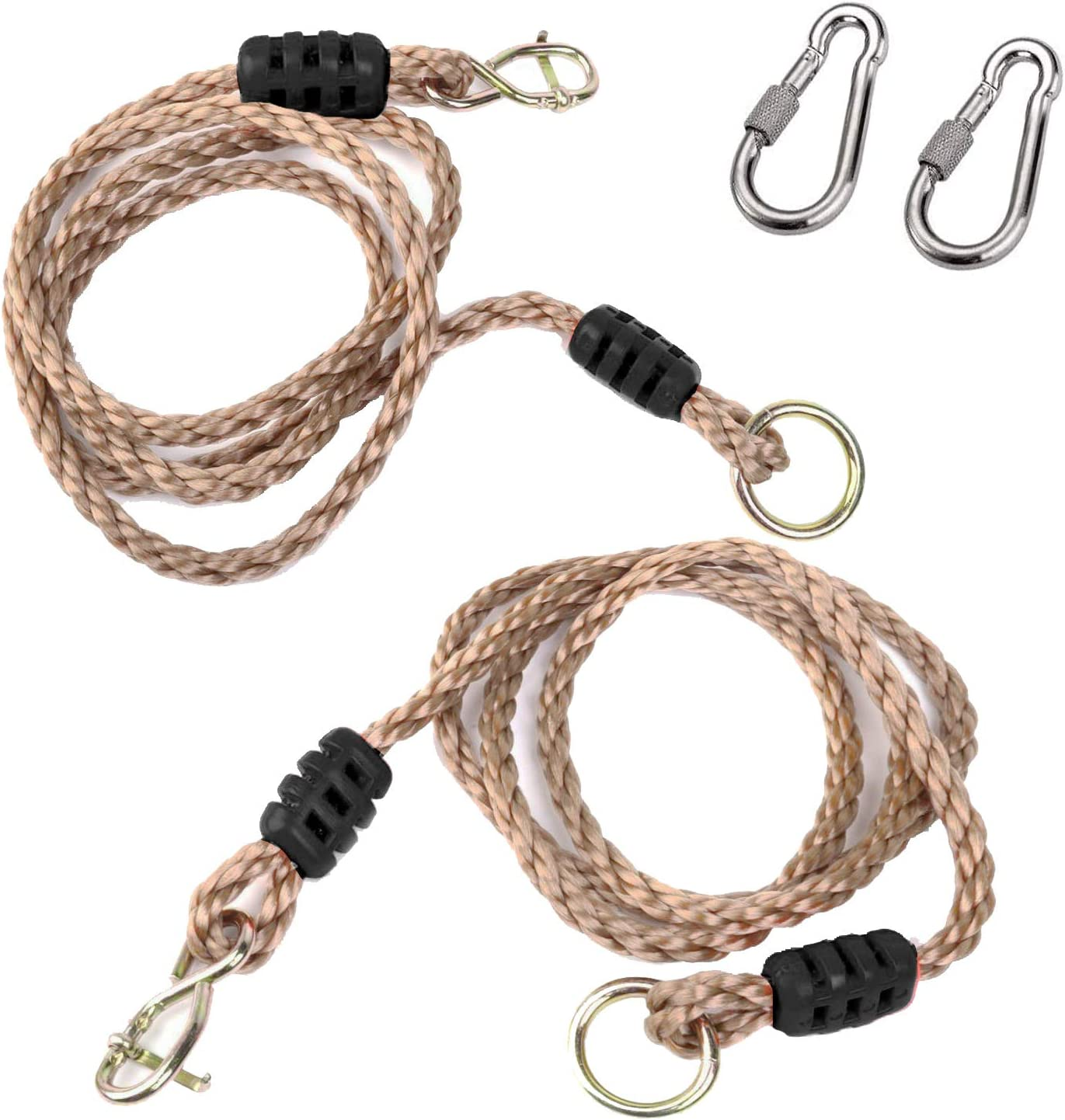 A AIFAMY Tree Swing, Adjustable Hammock Hangings Safer Nylon Rope,Tree Swing Hanging Strap Kit, Holds Up to 650 Lbs, 6 Feet, Pack of 2
