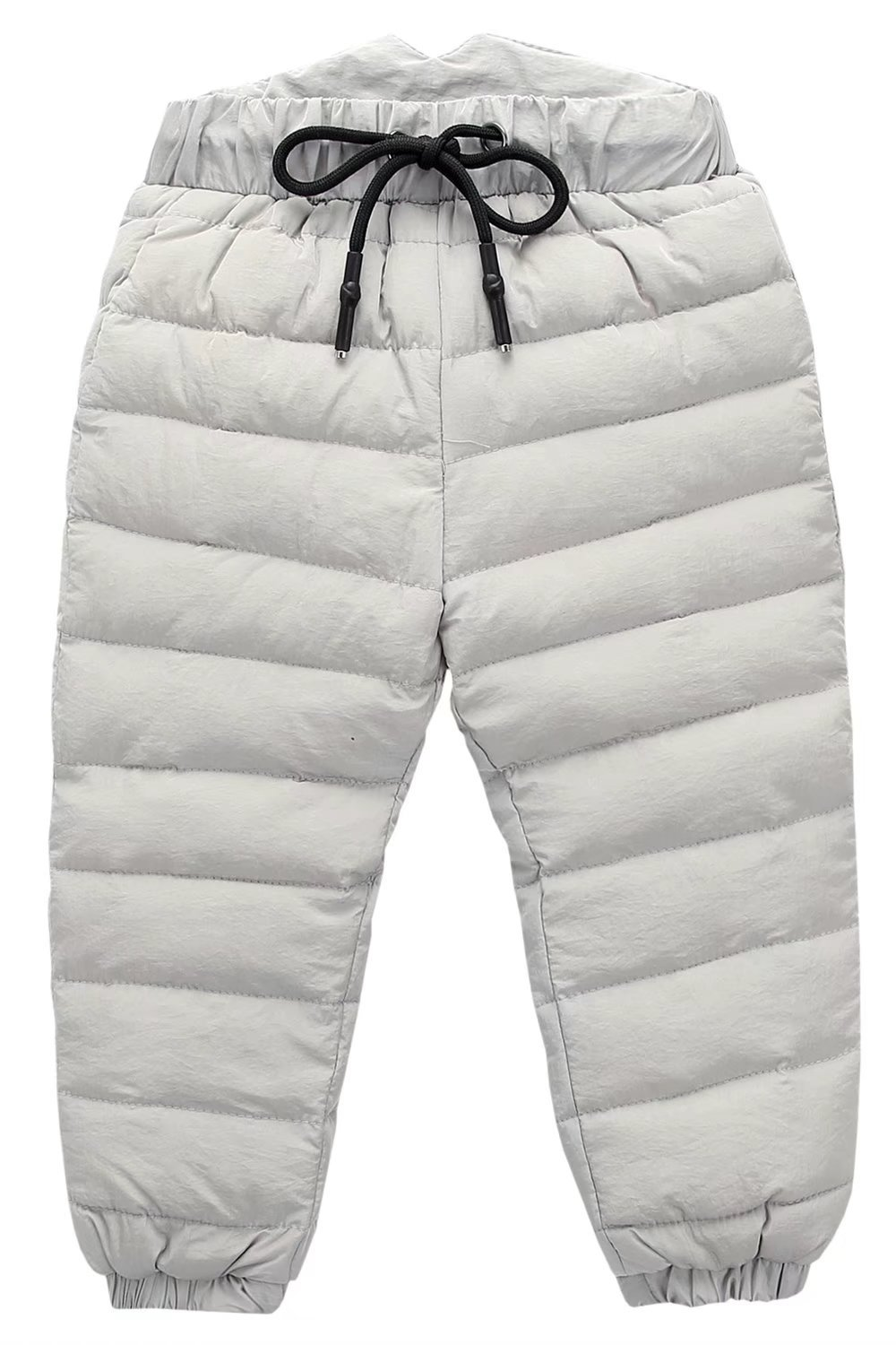 Boys Thick Warm Puffer Down Snow Pants Grey, 2-3 Years(2T-3T) = Tag 100