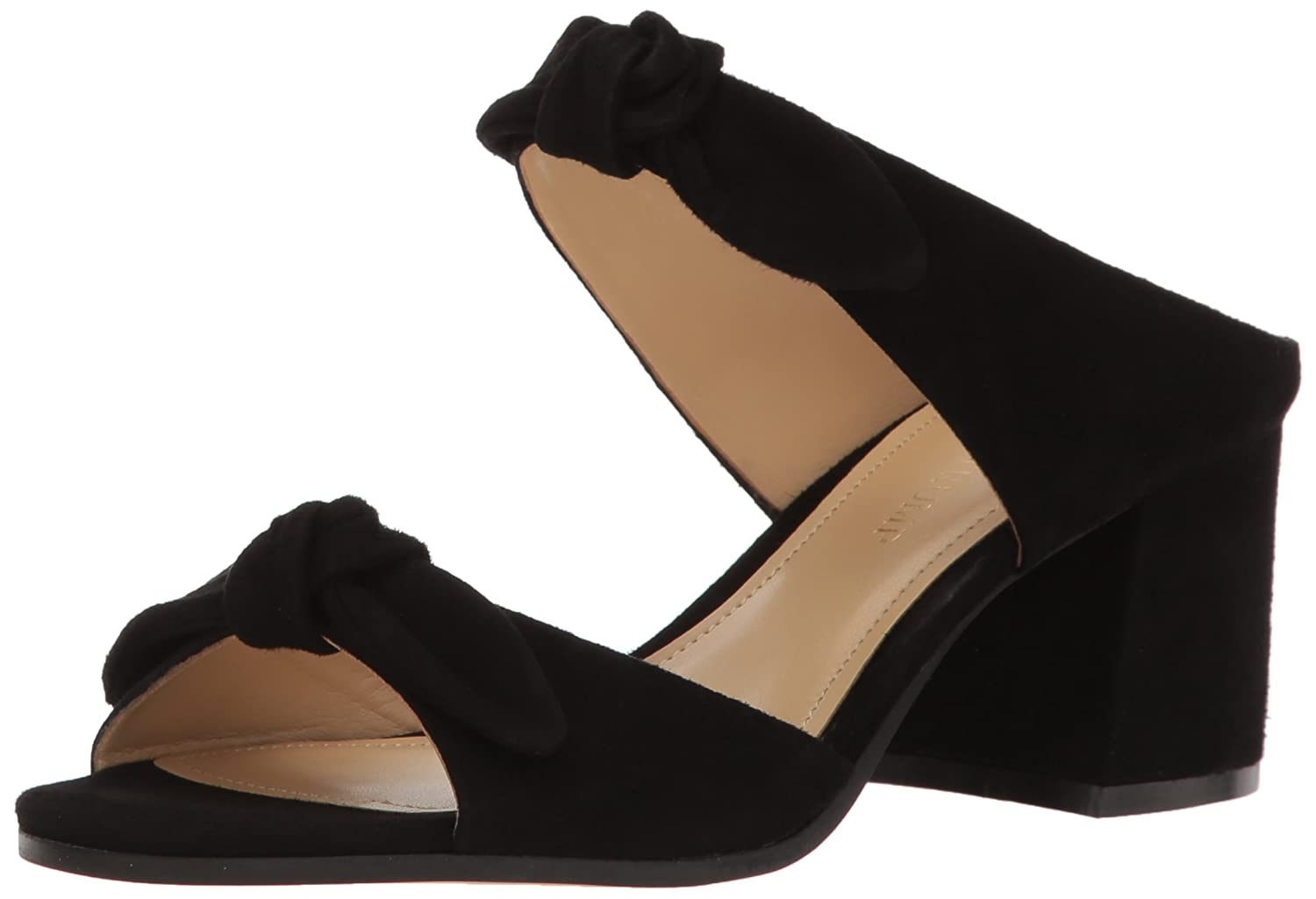 Black Suede Ivanka Trump Womens Eria Heeled Sandal