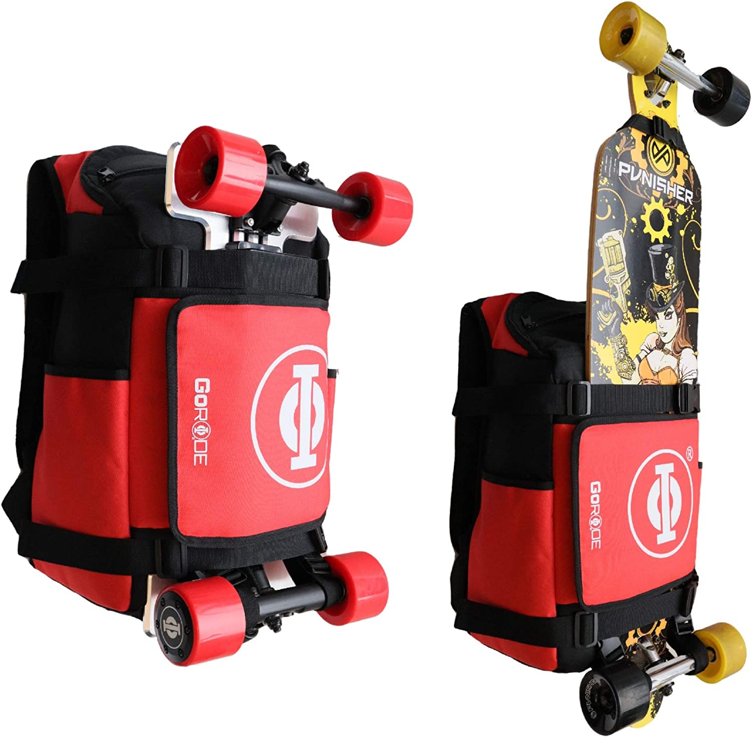 GoRide Electric Longboard Skateboard Backpack Bag Carrier with Laptop Holder