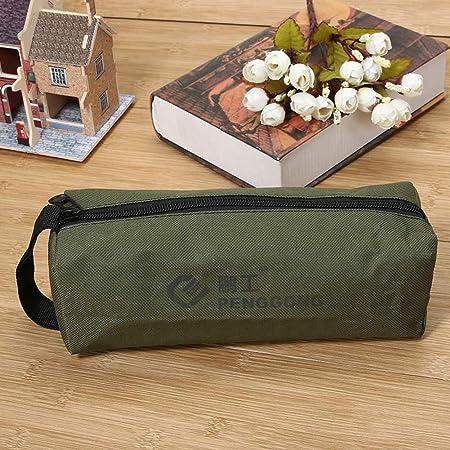 Everpert - Bolsa de herramientas de almacenamiento, impermeable, multifunción, para pequeñas piezas de metal con asa, verde